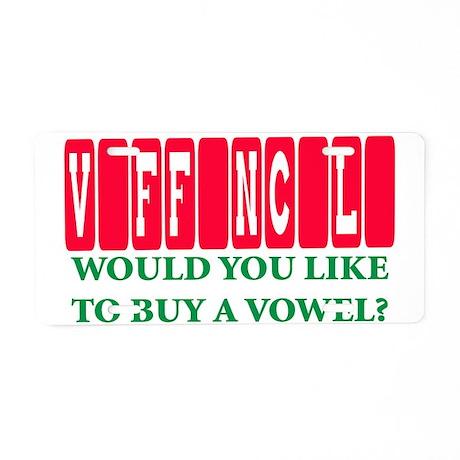 vaffanculo Aluminum License Plate