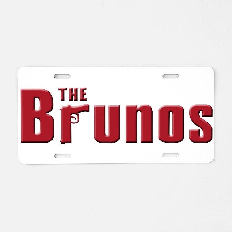 The Bruno family Aluminum License Plate