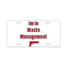Waste Management Aluminum License Plate