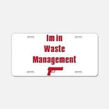 Waste Management Aluminum License Plate