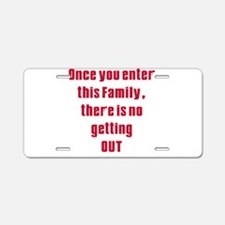 Soprano family Aluminum License Plate