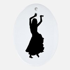 hip bump silhouette Oval Ornament