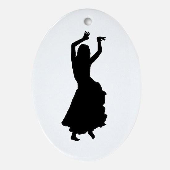 hip bump silhouette Oval Ornament