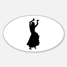 hip bump silhouette Oval Decal