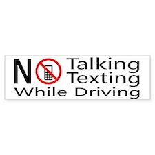 notalking_notexting Bumper Car Sticker