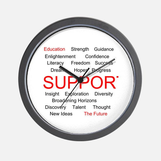 Support Education, Support the Future Wall Clock