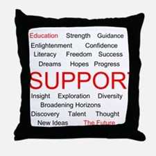 Support Education, Support the Future Throw Pillow
