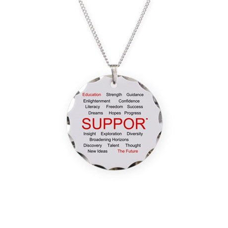 Support Education, Support the Future Necklace Cir
