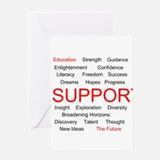 Support Education, Support the Future Greeting Car