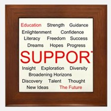 Support Education, Support the Future Framed Tile