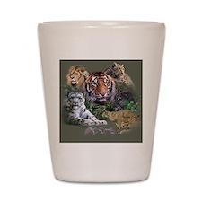 Cute Big cat Shot Glass