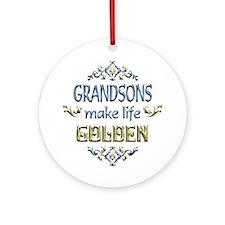 Grandson Sentiments Ornament (Round)