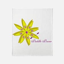 Kayak Paddle Power (Yellow) Throw Blanket