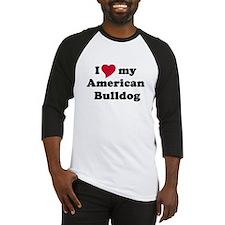 I heart my American bulldog copy Baseball Jersey