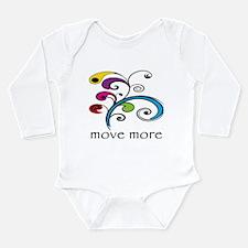 Move More! Long Sleeve Infant Bodysuit