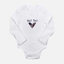 Cool British flag Long Sleeve Infant Bodysuit