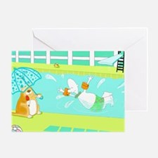 swimming lessons Greeting Card