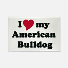 mag. I heart my American bulldog copy Magnets