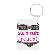 Swimsuit Ready? Aluminum Photo Keychain