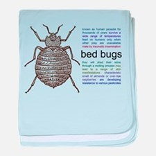 Funny Bugs and insects baby blanket
