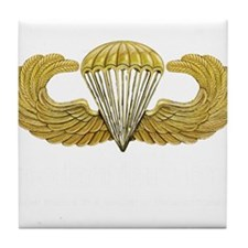 Gold Airborne Wings Tile Coaster