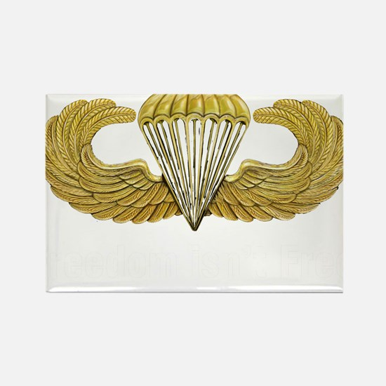 Gold Airborne Wings Rectangle Magnet