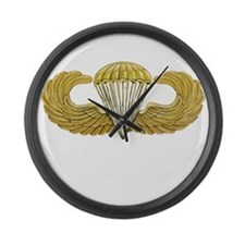 Gold Airborne Wings Large Wall Clock