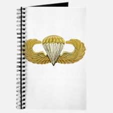 Gold Airborne Wings Journal