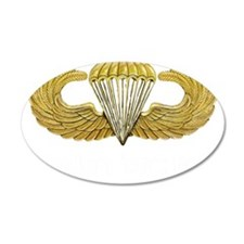 Gold Airborne Wings 38.5 x 24.5 Oval Wall Peel