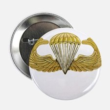 "Gold Airborne Wings 2.25"" Button"