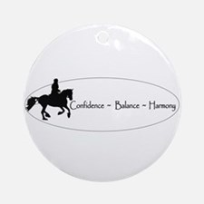 Dressage Ornament (Round)