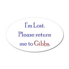 Return Me to Gibbs 22x14 Oval Wall Peel