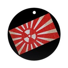Rising Sun Burn Ornament (Round)
