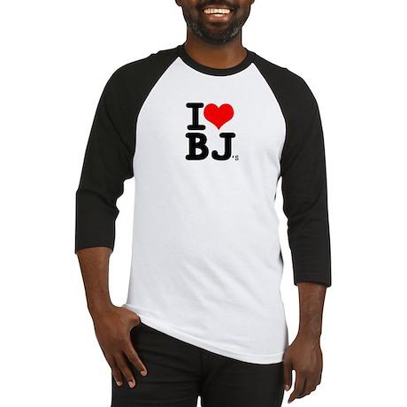 "SharpTee's ""I Love BJ's"" Baseball Jersey"