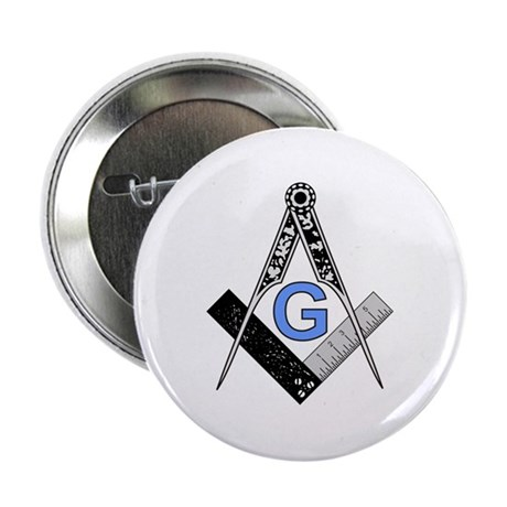 "Masonic Square and Compass 2.25"" Button"