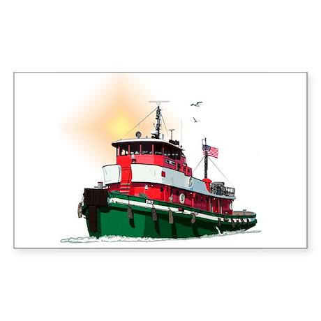 The Tugboat Ohio Sticker (Rectangle 50 pk)