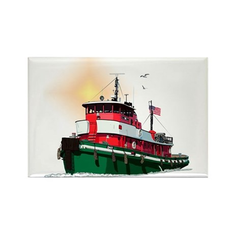 The Tugboat Ohio Rectangle Magnet (10 pack)