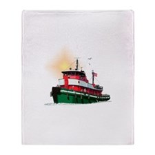 The Tugboat Ohio Throw Blanket