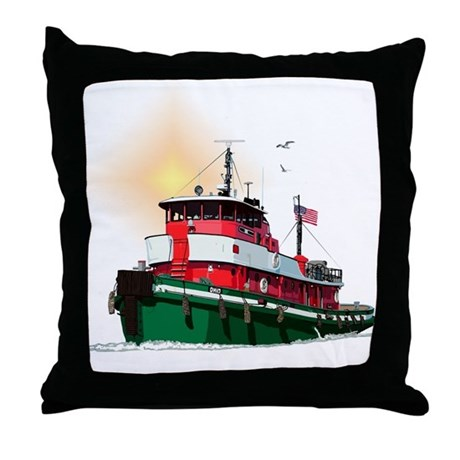 The Tugboat Ohio Throw Pillow
