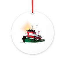 The Tugboat Ohio Ornament (Round)