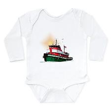 The Tugboat Ohio Long Sleeve Infant Bodysuit