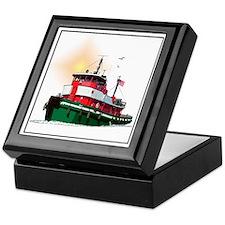 Unique Tug boat Keepsake Box