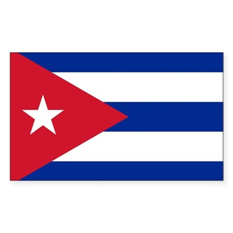 Cuba Flag Sticker (Rectangle)