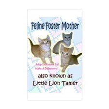 Feline Foster Mom Rectangle Decal