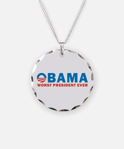 Worst Ever Necklace Circle Charm