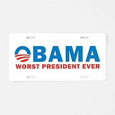 Worst Ever Aluminum License Plate