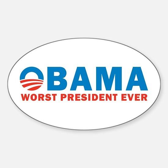Worst Ever Sticker (Oval)