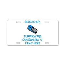 Geocacher Tupperware Aluminum License Plate