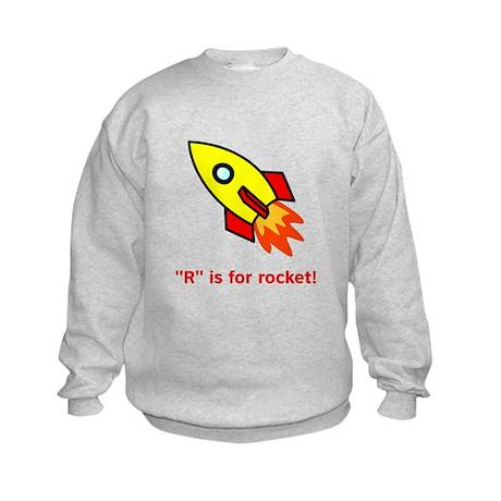 R Is For Rocket! Kids Sweatshirt