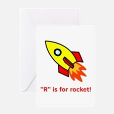 R Is For Rocket! Greeting Card